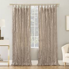 No. 918 Odelia Distressed Velvet Semi-Sheer Tab Top Window Curtain Panel In Stone - No. 918 Odelia Distressed Velvet Tab Top Curtain Panels contrast light and shadow, adding a dramatic luxe appeal to any room of your home. Tab Top Curtains, Drapes Curtains, Blush Velvet Curtains, Luxury Curtains, Floral Curtains, Bedroom Curtains, Drapery, Top Light, Contrast Lighting
