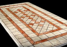 Tavolo mosaico ~ Corneli piano tavolo mosaico marmo rosso bianco kilim