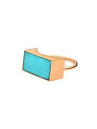 Ginette NY- Ever Turquoise Rectangle Ring