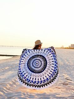 round towel, travel, beach vacation, summer style, the beach people