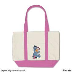 Eeyore 8 tote bag. Beautiful Disney merchandise to personalize. #disney #Eeyore #winniethepooh #personalize #shopping