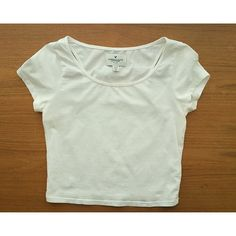 White Crop Top Perfect condition. No trades. Will accept any reasonable offers, use the offer button! American Eagle Outfitters Tops Crop Tops