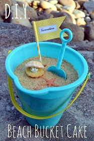 """*Rook No. 17: recipes, crafts & whimsies for spreading joy*: Creative Cake DIY: Beach Bucket Cake with Edible """"Sand"""" (and a Lemon Cake Oyster & Pearl on Top)"""