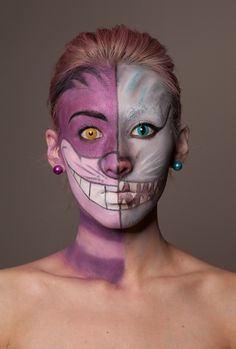 Halloween make up - grinse Katze