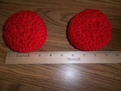 Crocheted Nylon Netting Double Scrubbies Red by bestdoilies, $7.00