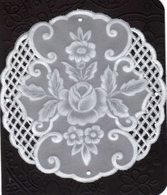 Roses and Cutwork.. Made by Me.