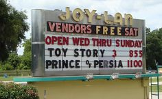 Joy-Lan Drive-In Theater Marquee, Florida
