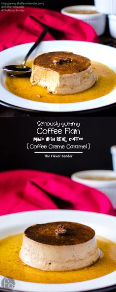 Coffee Flan - Classic Creme Caramel with a wonderful coffee twist! This Coffee creme caramel is made with coffee infused cream! Since it's so easy to make, delicate, super creamy and irrestibly addictive, it is the most requested dessert in our home. REPIN to save. CLICK to get the recipe. #TheFlavorBender #makecoffee
