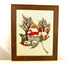 FRAMED Vintage Wall Art  Mixed Technique Needle by FunkAndMore, $38.00