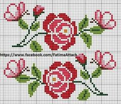 Here you can look and cross-stitch your own flowers. Cross Stitch Rose, Cross Stitch Borders, Cross Stitch Flowers, Cross Stitch Charts, Cross Stitch Designs, Cross Stitching, Cross Stitch Embroidery, Embroidery Patterns, Hand Embroidery