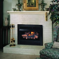 superior vci3032 ventless gas fireplace insert indoor fireplaces gas - Ventless Gas Fireplaces