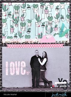 """Hello everyone! Today, I have a pretty layout to share with you using the """"Lots of Love"""" cut file from Just Nick Studio  and January Clique..."""
