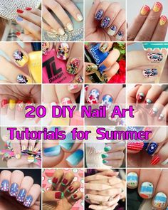 20 #DIY #Nail Art Tutorials for Summer