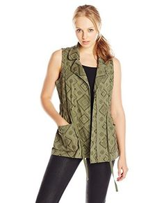 Jolt Juniors' Printed Vest with Drawstring Waist | #WomensFashion #WomensDresses | #RUE31