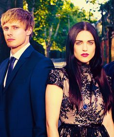 Bradley James and Katie McGrath