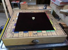 Post with 2 votes and 1318 views. Shared by putnaste. Diy Wood Projects, Woodworking Projects, Custom Monopoly, Adult Drinking Games, Homemade Board Games, Working Games, Outdoor Party Games, Wooden Board Games, Chess Table