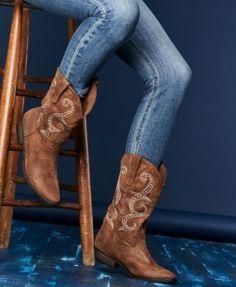 American Rag Dawnn Western Boots, Created for Macy's - Tan/Beige 5.5M