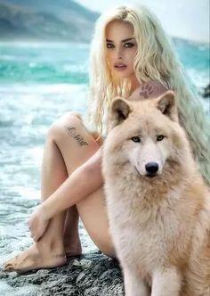 Merwolf- Born a mermaid, marked by a wolf.