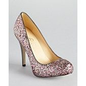 IVANKA TRUMP Pumps - Pinki Glitter!  I have these and they are my Go-To heel!  The glitter does not fall out!  $97.50 on sale at Bloomingdale's