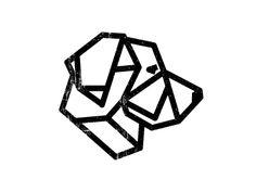 Golden retriever geometric