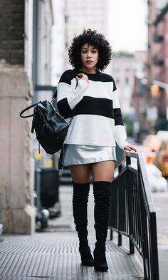 33 Over The Knee Boot Outfits To Copy This Season