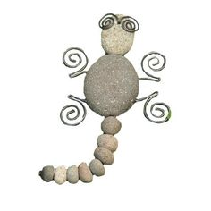 Ancient Graffiti Gecko River Stone With Wire By Ancient Graffiti. Save 19  Off!. $22.80. Creates An Artistic Blending Of Your Style And Garden  Environment.