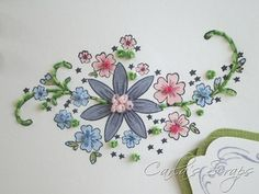 PPA 100, Embroidery and Flowers, Carla's Scraps