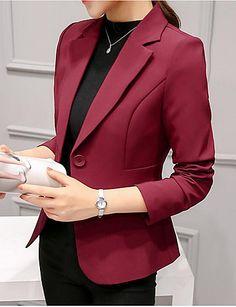 Women s Daily Ordinary Spring Regular Blazer 6cbadbbd5