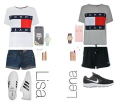 """Lisa or Lena"" by paloma22 ❤ liked on Polyvore featuring beauty, Tommy Hilfiger, Aéropostale, adidas, adidas Originals, NIKE, Charlotte Russe, Kate Spade, i.am+ and Charlotte Tilbury"