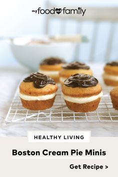 Get a tinier taste of your favorite dessert with this Boston Cream Pie Minis recipe! These easy-to-make cupcakes needs JELL-O Vanilla Flavor Instant Pudding, COOL WHIP Whipped Topping, and BAKER'S Semi-Sweet Chocolate to satisfy your sweet tooth.