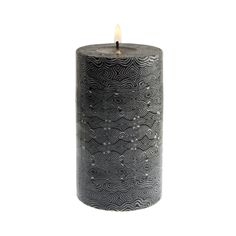 """- Description - Impact This Handmade Pillar Candle is crafted using the age-old technique of """"millfiore"""" or thousand flowers. This technique first surfaced in the great glassmaking cities of Murano an"""