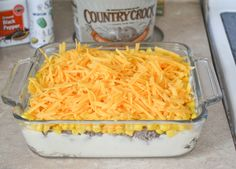 Shepherd Pie Casserole recipe - Flour On My Face Family Recipes: Easy Shepherds Pie Used loaded instant potatoes and added large onion to ground beef Beef Casserole Recipes, Ground Beef Casserole, Hamburger Recipes, Easy Pie Recipes, Cooking Recipes, Dinner Recipes, Dinner Ideas, Quick Supper Ideas, Budget Recipes