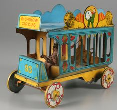"Strauss ""Big-Show Circus"" wagon toy, circa 1920. Photo by Jim Sneed from the Strong National Museum of Play collection."