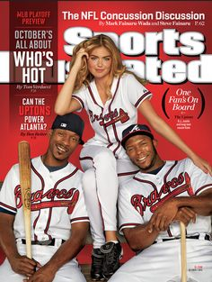 Kate Upton on cover of SI s baseball playoff preview 4b23785aab635