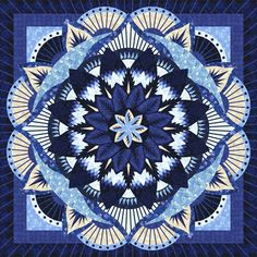 Check out this original color-way designed by Kathi S. Sign up on www.quiltster.com to create your own. Beginner Quilt Patterns, Quilting For Beginners, Quilting Tutorials, Quilting Designs, Circle Quilts, Star Quilts, Family Tree Quilt, Bargello Quilts, Foundation Paper Piecing