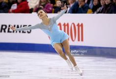 Anne Line Gjersem of Norway competes during Day 4 of the ISU World Figure Skating Championships 2016 at TD Garden on March 31, 2016 in Boston, Massachusetts.