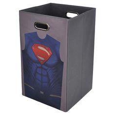 "Batman v Superman Gray Folding Laundry Bin (13""x22"")"