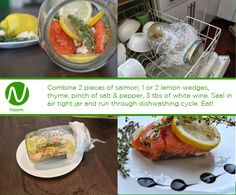 Salmon a la Dishwasher?  Prepare, rinse, cycle and eat.