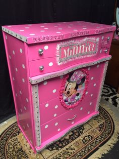 LOCAL pick up only - kids christmas gifts  - minnie mouse furniture - pink dresser - kids furniture - childrens furniture - girls room furn by Lisasdazzlingdesigns on Etsy https://www.etsy.com/listing/256460808/local-pick-up-only-kids-christmas-gifts