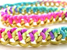 ▶ Woven chain necklace / bracelet tutorial. - YouTube
