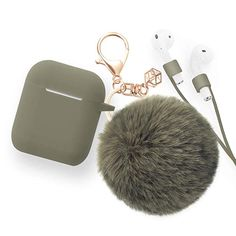 for Airpods Case - Bluewind Drop Proof Air Pods Protective Case Cover Silicone Skin, with Cute Fur Ball Airpods Keychain/Strap, Portable Apple Airpods Accessories (Black) Apple Watch Accessories, Iphone Accessories, Apple Airpods 2, Earphone Case, Air Pods, Best Laptops, Airpod Case, Ipad, Apple Products