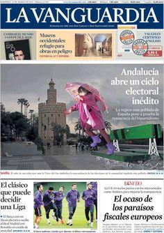 Diario LA VANGUARDIA del 22 de Marzo 2015 Recordamos que pueden visualizar cada día las principales portadas titulares ocurridos en España - Catalunya - Barcelona en http://www.youtube.com/vendopor