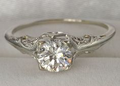 vintage...I love this ring. simple, elegant, and timeless