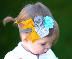 Little girl headband...love the flowers, how do you feel about the bow?