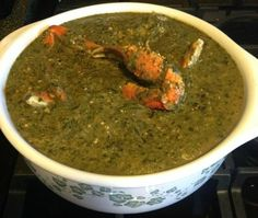 SUNDAY DINNER :: TRINIDAD CALLALOO & CRAB w/ MANGO RICE PUDDING ...