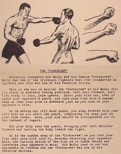 Night Birds » An old flyer describing Kid McCoy's corkscrew punch