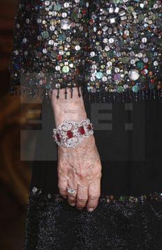 Pulsera de diamantes y rubíes de la reina Sofía
