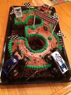 Monster truck cake 3 years old Sweet tooth Pinterest Truck