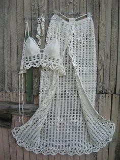 crochet Sarong Crochet Pareo B