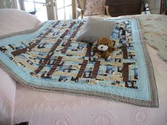 Childs Doggy Quilt by KerrysCupboard on Etsy, $50.00